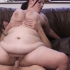 Adorable young fattie got so turned on being photographed that she rode the gentleman